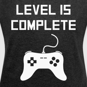 Level 15 Complete Video Games 15th Birthday - Women´s Roll Cuff T-Shirt