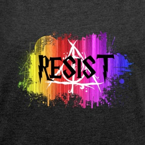 Harry Potter - RESIST - Women´s Rolled Sleeve Boxy T-Shirt