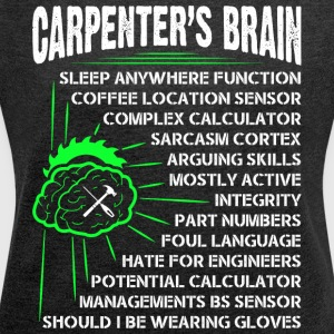 Carpenter's Brain T Shirt - Women´s Roll Cuff T-Shirt
