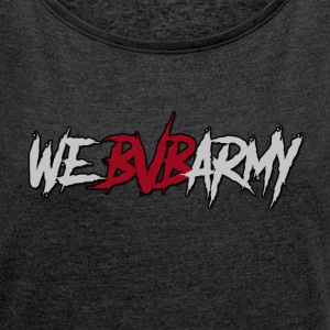 BLACK VEIL BRIDES ARMY - Women´s Rolled Sleeve Boxy T-Shirt