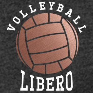 Rose Gold Volleyball Libero - Women´s Rolled Sleeve Boxy T-Shirt
