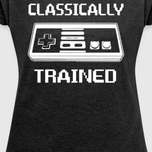 Trained Classically - Women´s Roll Cuff T-Shirt