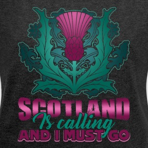 SCOTLAND IS CALLING AND I MUST GO SHIRT - Women´s Roll Cuff T-Shirt