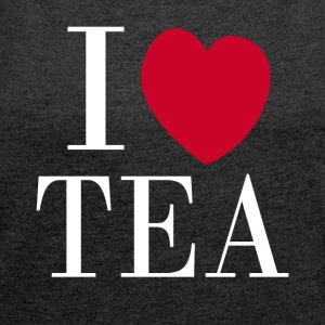 I love TEA - Women´s Rolled Sleeve Boxy T-Shirt