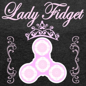 Fidget Spinner - Lady Fidget - Women´s Roll Cuff T-Shirt