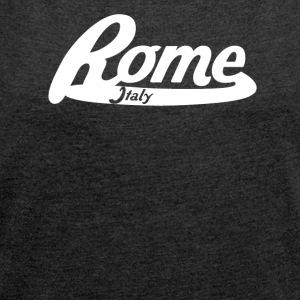Rome Italy Vintage Logo - Women's Roll Cuff T-Shirt