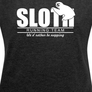 Sloth Running Team - Women´s Rolled Sleeve Boxy T-Shirt