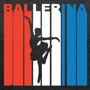 Red White And Blue Ballerina - Women´s Roll Cuff T-Shirt