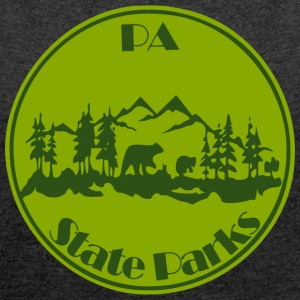 PA State Parks Bear Green - Women´s Roll Cuff T-Shirt