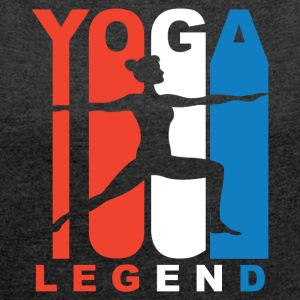 Red White And Blue Yoga Legend - Women´s Roll Cuff T-Shirt