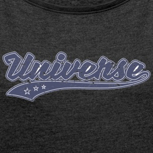 Universe (Retro Color) - Women´s Rolled Sleeve Boxy T-Shirt