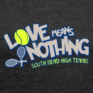 South Bend High Tennis - Women´s Rolled Sleeve Boxy T-Shirt