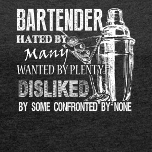 Awesome Bartender Tee Shirt - Women's Roll Cuff T-Shirt