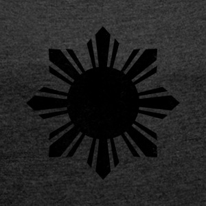 Black Flag Philippines Sun - Women´s Rolled Sleeve Boxy T-Shirt