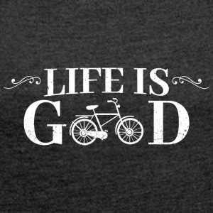 Life Is Good Bicycle - Women's Roll Cuff T-Shirt
