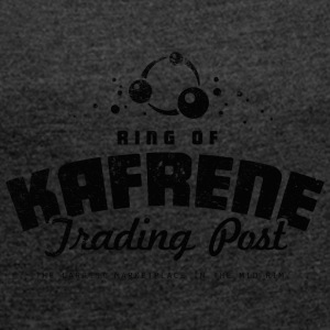 Ring of Kafrene Trading Post - Women's Roll Cuff T-Shirt