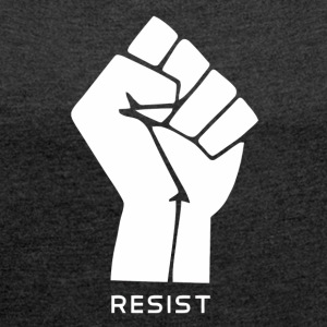anarchy flag resist vectorized - Women´s Roll Cuff T-Shirt