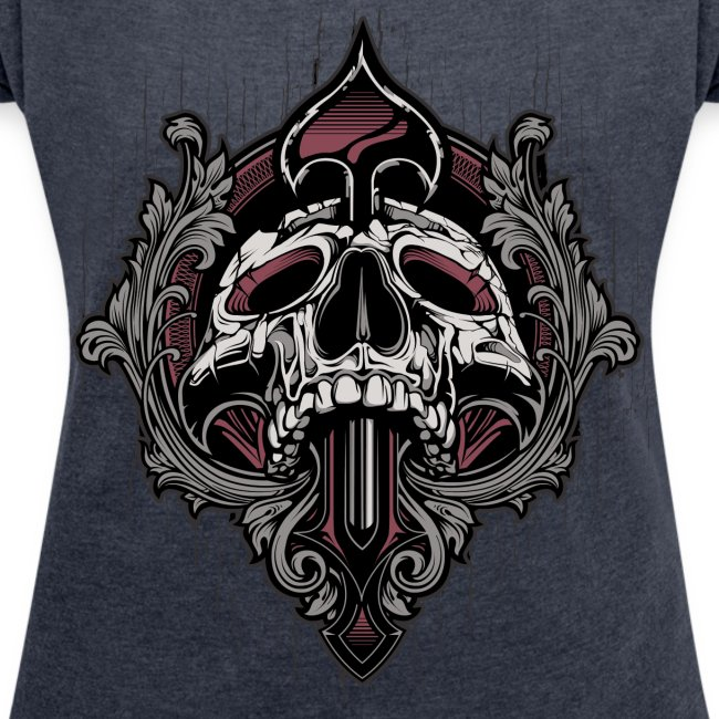 Ornamental Skull Boxy T-Shirt