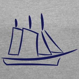 Ship and Sail - Women's Roll Cuff T-Shirt