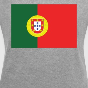 Flag of Portugal Cool Portuguese Flag - Women's Roll Cuff T-Shirt