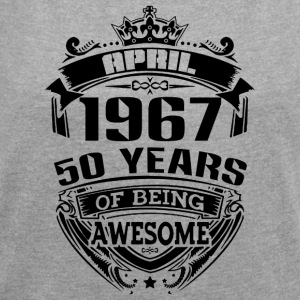 april 1967 50 years of being awesome - Women´s Rolled Sleeve Boxy T-Shirt