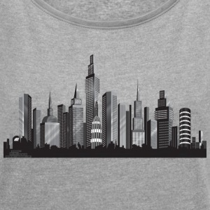 Cityscape ney york - Women´s Rolled Sleeve Boxy T-Shirt