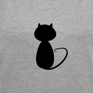 Small cat shadow - Women´s Roll Cuff T-Shirt