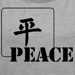Peace - Women´s Rolled Sleeve Boxy T-Shirt