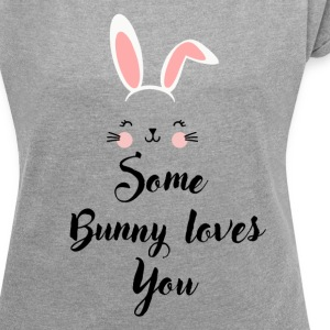 Happy Easter Tshirt - Women´s Rolled Sleeve Boxy T-Shirt
