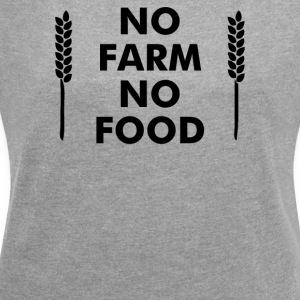 No Farms No Food - Women´s Rolled Sleeve Boxy T-Shirt