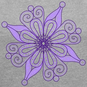 Snow flake - violet - Women´s Rolled Sleeve Boxy T-Shirt
