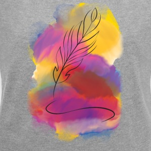 Feather - Women's Roll Cuff T-Shirt