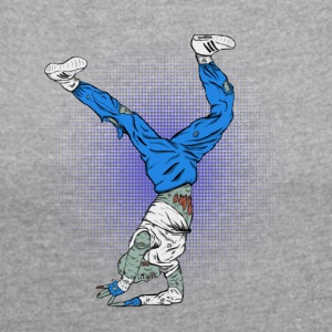 Break Dance Zombies - Women's Roll Cuff T-Shirt