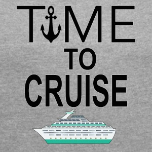 Time To Cruise Cool Cruising Tee Shirt - Women´s Rolled Sleeve Boxy T-Shirt