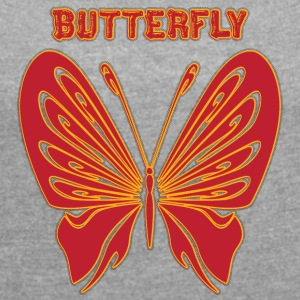 butterfly 5 - Women´s Roll Cuff T-Shirt