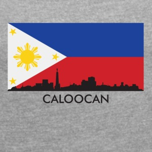 Caloocan Philippines Skyline Filipino Flag - Women´s Roll Cuff T-Shirt