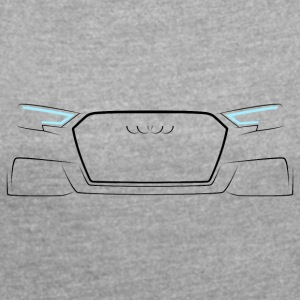Audi A3 8V 2016 Front White - Women's Roll Cuff T-Shirt