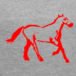 cyber booby horsered - Women´s Roll Cuff T-Shirt