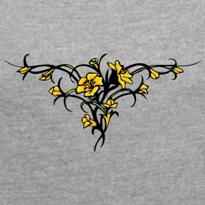 old_yellow - Women's Roll Cuff T-Shirt