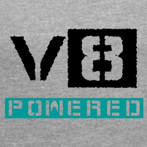 V8 powered - Women´s Rolled Sleeve Boxy T-Shirt