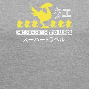 Chocobo Tours Final Fantasy - Women´s Roll Cuff T-Shirt