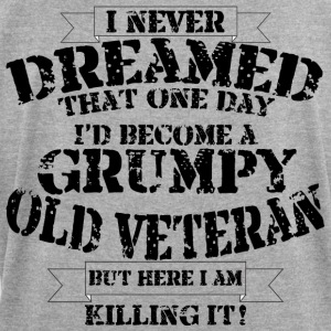 Grumpy Old Veteran - Women's Roll Cuff T-Shirt