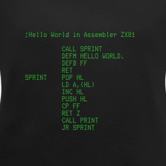 Hello World - Z81