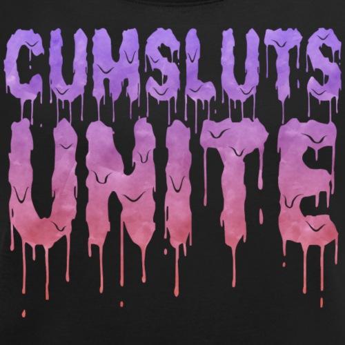 Cumsluts Unite - Women's Roll Cuff T-Shirt