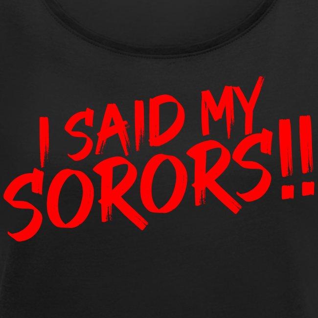 My Sorors Red