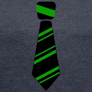 Neck Tie green - Women´s Roll Cuff T-Shirt