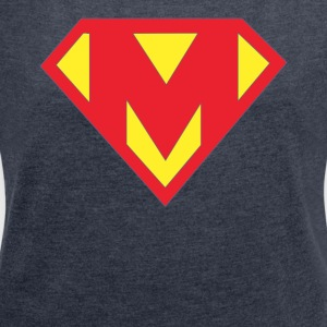 mothers day supermom superhero tshirt - Women´s Roll Cuff T-Shirt