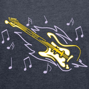 Guitar - Women´s Rolled Sleeve Boxy T-Shirt