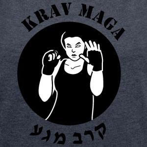 Krav Maga - Women´s Rolled Sleeve Boxy T-Shirt