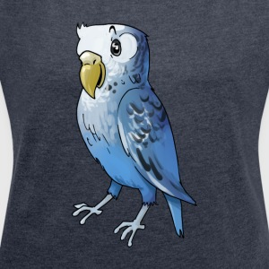 parakeet finch budgerigar budgie parot dove bird - Women´s Roll Cuff T-Shirt